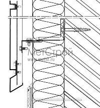Схема монтирования цоколя при использовании кассетона с открытым типом стыковки