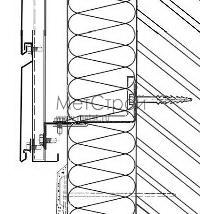 Схема монтирования цоколя при использовании кассетона с закрытым типом стыковки