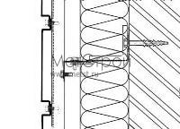 Схема горизонтальной стыковки фасадных кассетнов с открытым стыком