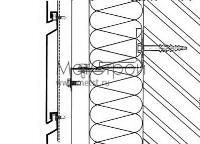 Схема горизонтальной стыковки фасадных кассетнов с закрытым стыком