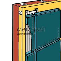 Внешний вид фасада (кассетон открытого типа)