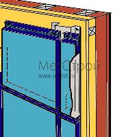 Внешний вид фасада (кассетон закрытого типа)