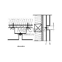 Схема крепления и монтажа кассетона с открытым стыком