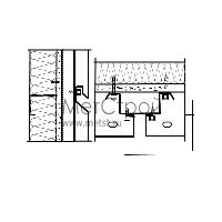 Схема крепления и монтажа кассетона с закрытым стыком