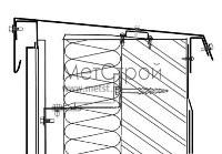 Схема монтажа парапета, с использованием фасадного кассетона с открытым стыком