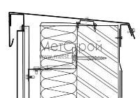 Схема монтажа парапета, с использованием фасадного кассетона с закрытым стыком