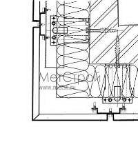 Схема монтажа внешнего угла фасада, при использовании кассетона с открытым стыком
