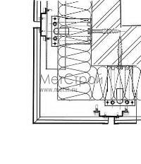 Схема монтажа внешнего угла фасада, при использовании кассетона с закрытым стыком