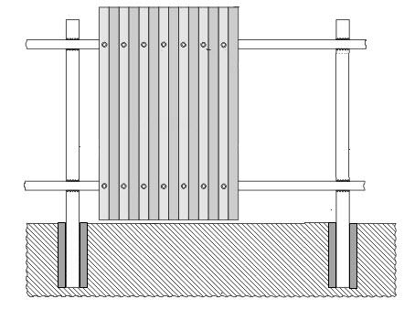 Забор из профнастила на 2-ух лагах