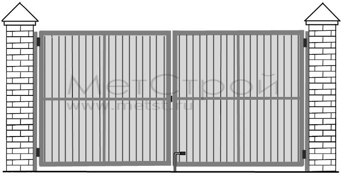 Схема ворот, Схема распашных