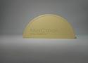 Заглушка желоба водосточной системы Wincraft круглого типа из оцинкованной стали с полимерным покрытием пурал цвета слоновой кости (RAL 1014)