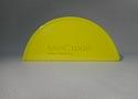 Заглушка желоба круглой водосточной системы Wincraft из оцинкованной стали с защитным полимерным покрытием люминесцентного желтого цвета (RAL 1026)