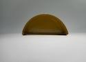Заглушка желоба круглой водосточной системы Wincraft из оцинкованной стали с полимерным покрытием перламутрово-золотого цвета (RAL 1036)
