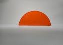 Заглушка желоба круглой водосточной системы Wincraft из оцинкованной стали с полимерным покрытием на основе полиуретана яркого красно-оранжевого цвета (RAL 2008)