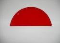 Заглушка желоба круглой водосточной системы Wincraft из оцинкованной стали с полимерным покрытием люминесцентного красного цвета (RAL 3024)