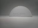 Заглушка желоба круглой водосточной системы Wincraft из оцинкованной стали с защитным покрытием пурал сигнально-белого цвета (RAL 9003)